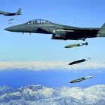 800px-F-15E drops 2000-pound munitions Afghanistan 2009