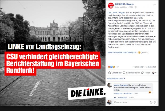 CSU: Söder orbant gegen DIE LINKE