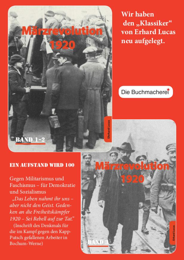 Drei Bände über die Märzrevolution 1920